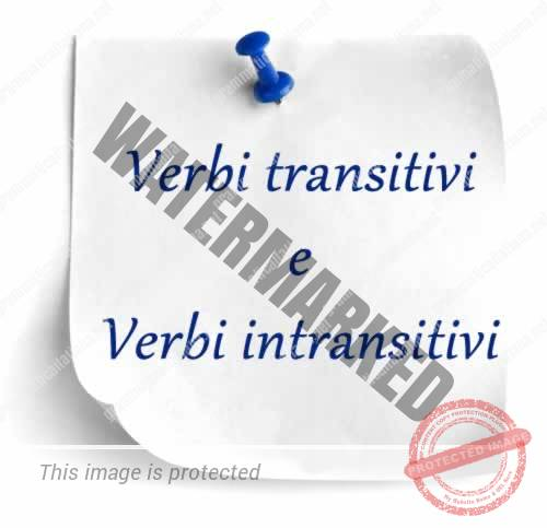 Verbi transitivi e verbi intransitivi